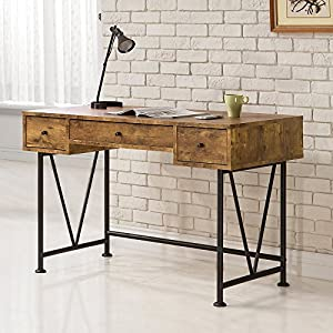 Coaster Furniture Antique Nutmeg Writing Desk with V-Shaped Legs