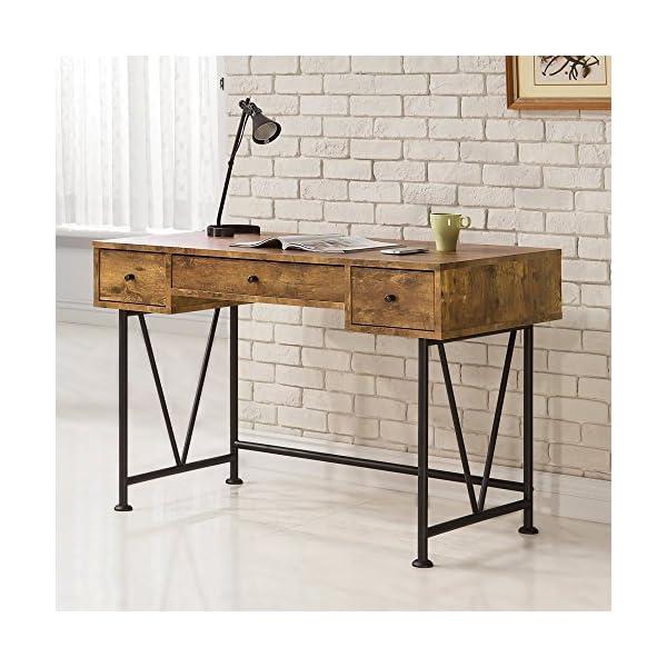 Coaster Furniture Antique Nutmeg Writing Desk with V-Shaped Legs