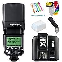 Godox TT685N I-TTL 2.4GHz GN60 High-Speed Sync 1/8000s Master Slave Flash Speedlite Speedlight +Godox X1T-N Wireless Trigger Transmitter For Nikon Cameras+Diffuser & Filter&Snoot+USB LED Free Gift