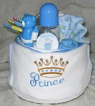 Amazon.com: 1 nivel Prince tarta de pañales de bebé: Baby
