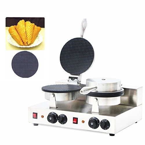 Boshi Electronic Instrument NP-598 110V/220V Commerical Double Heads Cone Waffle Maker waffle baker Cone Waffle Toaster Waffeleisen CE Certification