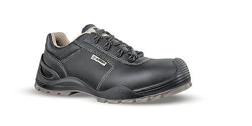 AIMONT - Calzado de protección de ante para hombre negro negro negro Size: 43 0cEvoN9t6