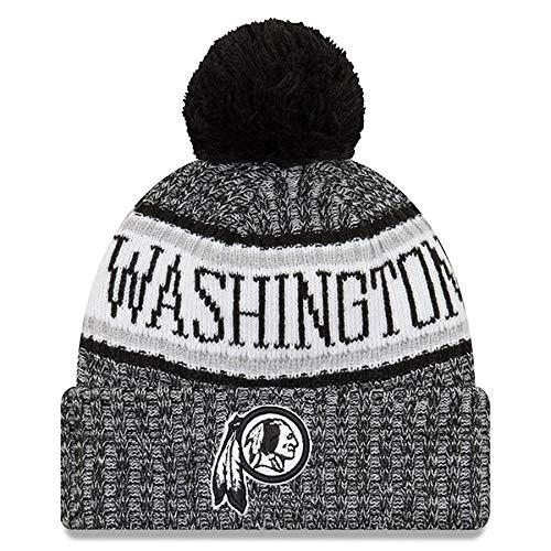 3a69e1266 New Era Knit Washington Redskins Red On Field Sideline Sport Knit Winter  Stocking Beanie Pom Hat Cap 2015