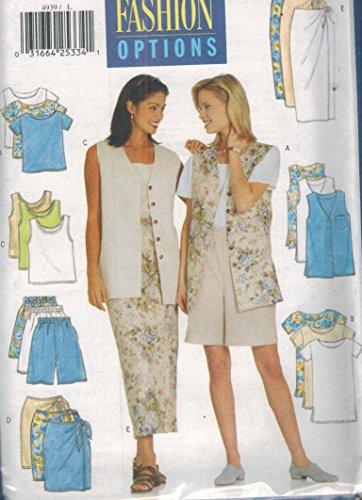 Butterick 4939 Misses Petite Vest, Top, Tank Top, Skirt & Shorts Size [L-XL]