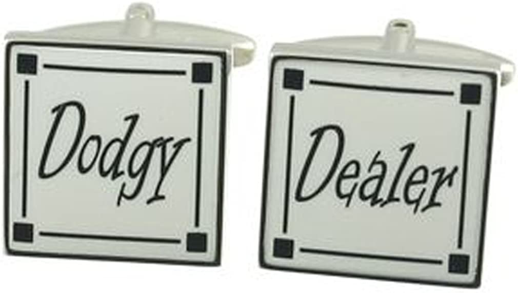 Select Gifts Dodgy Dealer Cufflinks Optional Engraved Personalised Box