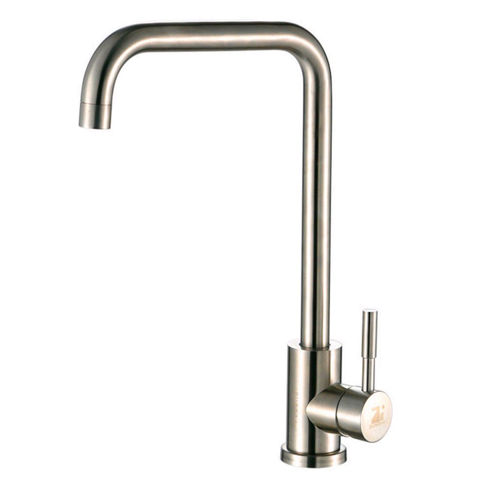 AQMMi Bathroom Sink Faucet Basin Mixer Tap Hot and Cold Water 304 Stainless Steel Basin Sink Tap Bathroom Bar Faucet