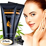 Upgraded Blackhead Remover Mask, Deep Cleansing Charcoal Peel Off Black Mask for Face and Nose Acne, Black Mask for Body Acne, Best Blackhead Remover Mask for 2018