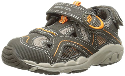 Stride Rite Made 2 Play  Baby Soni Shoe ,Cinder/Taupe,4 M US