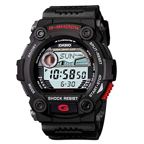 (G7900 200M Water Resistant G-Shock Rescue Digital Sports Watch - Black)
