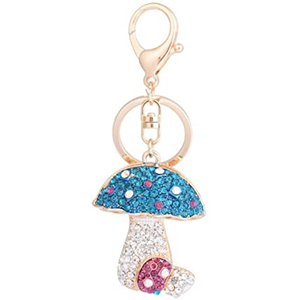 Haodou Fashion Creativo Hongo de Diamante Llaveros Moda ...