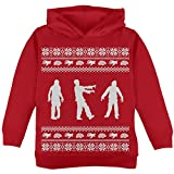 Old Glory Zombie Ugly Christmas Sweater Red Toddler Hoodie - 4T