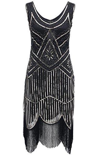 BABEY (Black Fringe Flapper Dress)