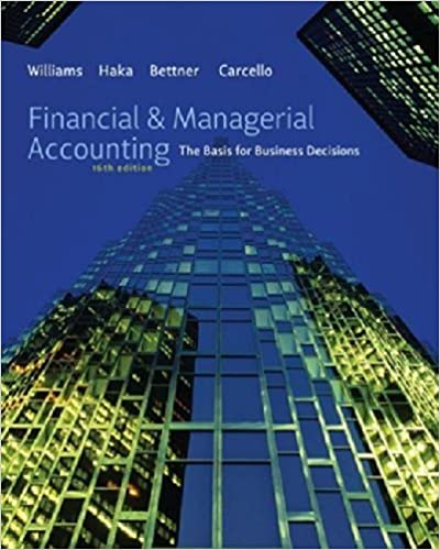 financial managerial accounting 14th edition answers