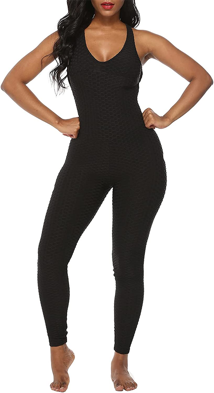Women/'s Yoga Fitness Sleeveless Jumpsuit Playsuit Tank Romper Catsuit Bodysuit