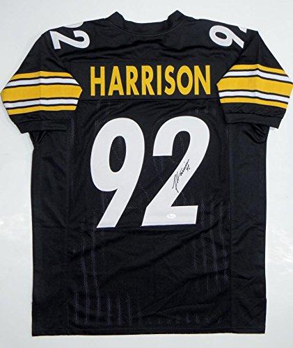 huge discount 8cd05 f68c9 James Harrison Autographed Black Pro Style Jersey- JSA ...