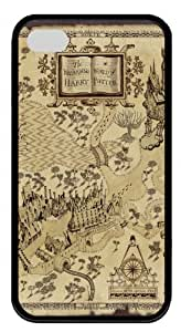 Harry Potter Marauders Map TPU Material Black Case For Iphone 4/4S by Topmousepad