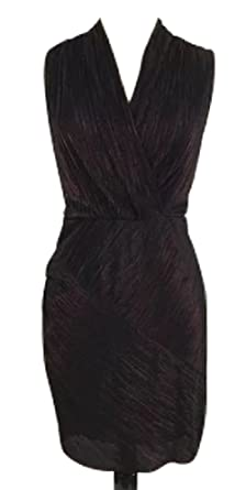 aa990051d1e5 Rachel Rachel Roy Women s Pleated Faux-Wrap Metallic Dress at Amazon  Women s Clothing store