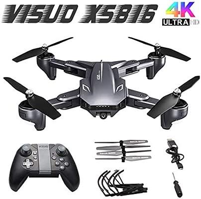 Kongqiabona XS816 WiFi FPV RC Drone Cámara 4K Flujo óptico Smart ...