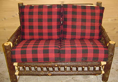 - Hickory Log Love Seat with Ladder Design