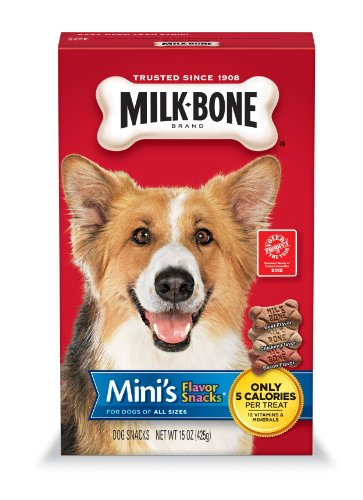 Milk Bone Mini's Flavor Snacks, 15-Ounce (Pack of 6), My Pet Supplies