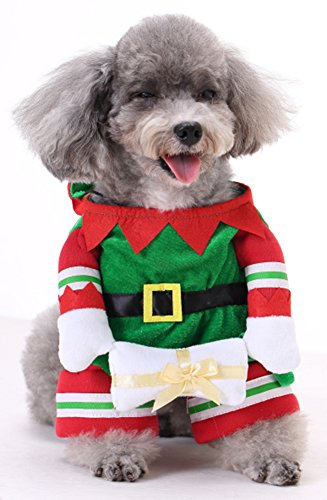 MaruPet Dog Warm Polyester Christmas Spirit Popular Leisure Very Soft Beautiful The Four Feet Garments Cool Cute The Latest Version Pet Cloth Christmas Spirit S]()