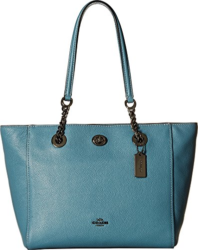 COACH Women's Turnlock Chain Tote 27 Dk/Chambray One Size
