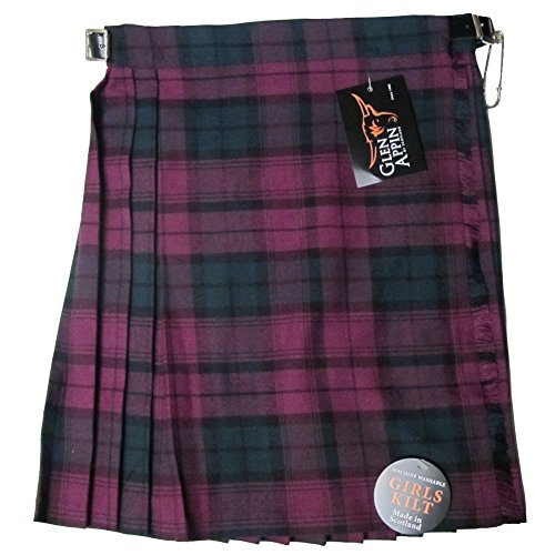Glen Appin New Girls Pleated Lindsay Tartan Kilt Skirt Age 6 (Lindsay Tartan)