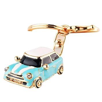 Llavero chapado modelo de coche Llavero Mando del Rhinestone ...