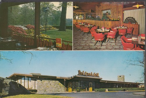 Red Coach Grill Yonkers NY jumbo 3-view postcard - Ny Yonkers Of County