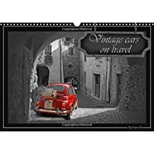 Vintage cars on travel 2016: Nostalgic Vintage cars in black and white, with decorative colorkeys