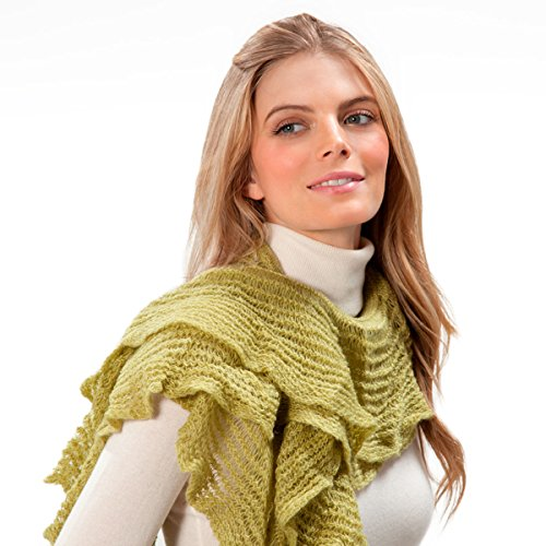 Eric Javits Luxury Fashion Designer Women's - Cascade Scarf - Sage by Eric Javits
