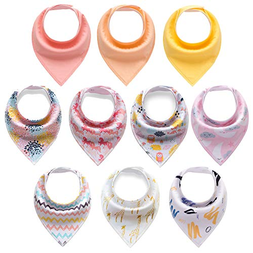 Top 10 drool bibs girl 10 pack for 2020