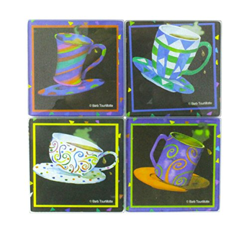 GIFTCO 8670 Glass Square Coasters