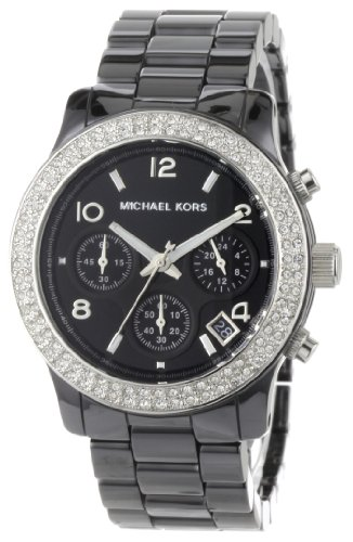 Michael Kors Women's MK5190 Black Ceramic Runway Glitz Watch