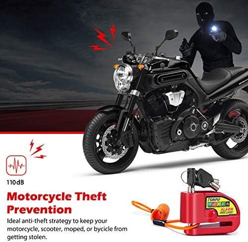 Super Lock Reminder Cable Motorcycle Scooter Bike Motorbike Disc Spring POP