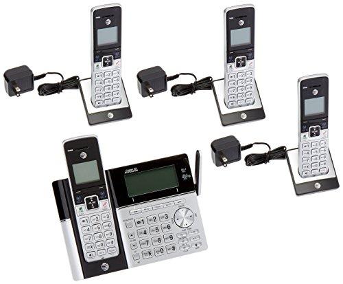 AT&T ATT-TL96423 dect_6.0 4-Handset Landline Telephone, Silver