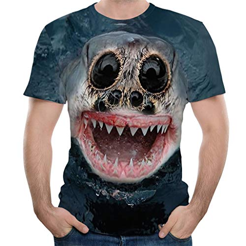 PASHY T Shirts for Men Graphic, Cotton Animals All-Over 3D Print Shirts Slim-Fit Short-Sleeve Tank Tops ()