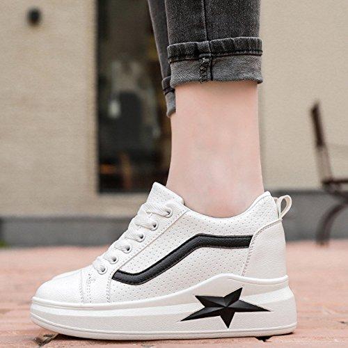 Femmes Mode Sneaker Respirant Supérieur Lacets Chaussures Occasionnels