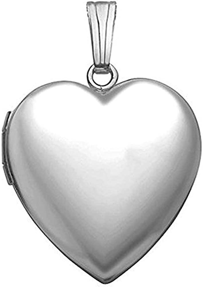 PicturesOnGold.com Sterling Silver Extra Large Heart Locket 1 1//4 Inch X 1 1//4 Inch in Sterling Silver