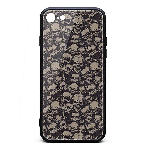 (Srel rtrterwe Phone case for iPhone 7/iPhone 8 Grunge Screaming Skull Bumper Matte TPU Protective Back Mobile Cover Cell Phone Holder)