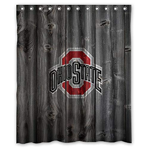 (Flaun Custom NCAA Ohio State Buckeyes Waterproof Polyester Shower 0)