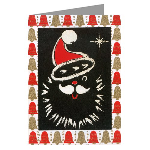 Victorian Vintage Holiday Chaulkboard Santa Claus Christmas Greeting Card Set