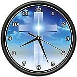 CROSS Wall Clock jesus christian religious spiritual gift