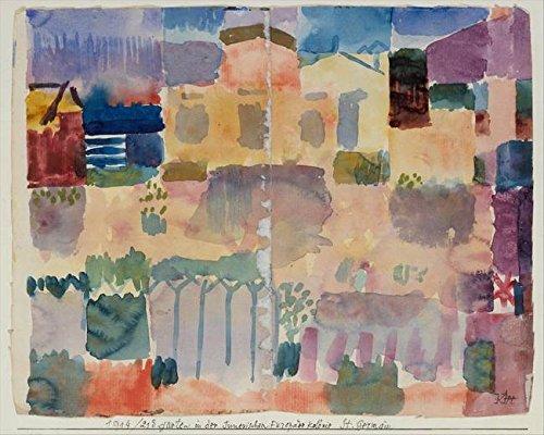 Wall Art Print Entitled Paul Klee, Garden in St. Germain, The European Qua by Celestial Images | 45 x 36 ()