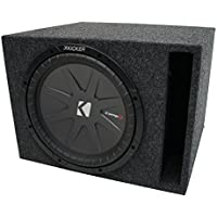 Universal Car Stereo Vented Port Single 12 Kicker CompR CWR12 Sub Box Enclosure - Final 2 Ohm