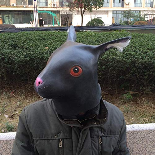 DeemoShop Long Ears Rabbit Masks Latex Lovely Creative Halloween Animal Mask Adult Costume Mask Rabbit Head Retaining Cap