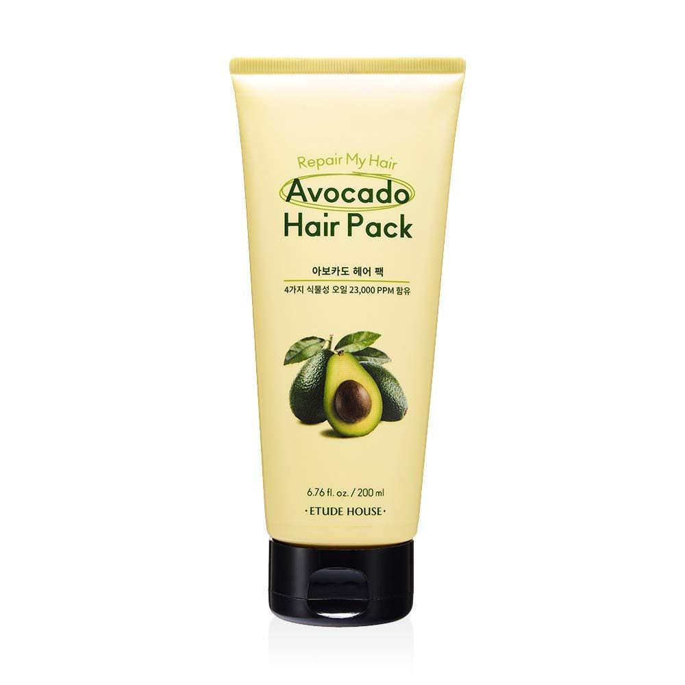 ETUDE HOUSE Repair My Hair Avocado Hair Pack 200ml | Protein-rich Hair Treatment with Avocado Oil, Sunflower Seed Oil, Jojoba Seed Oil and Camelia Oil