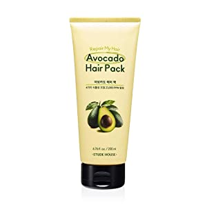 ETUDE HOUSE Repair My Hair Avocado Hair Pack 200ml   Protein-rich Hair Treatment with Avocado Oil, Sunflower Seed Oil, Jojoba Seed Oil and Camelia Oil
