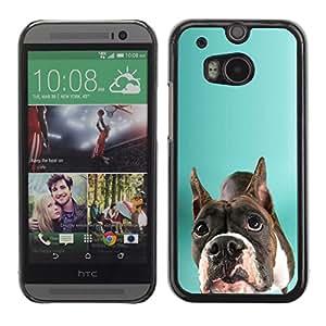Vortex Accessory Carcasa Protectora Para HTC ONE ( M8 ) - Staffordshire Bull Terrier Green Dog -