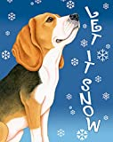 Beagle – Best of Breed Let It Snow House Flag